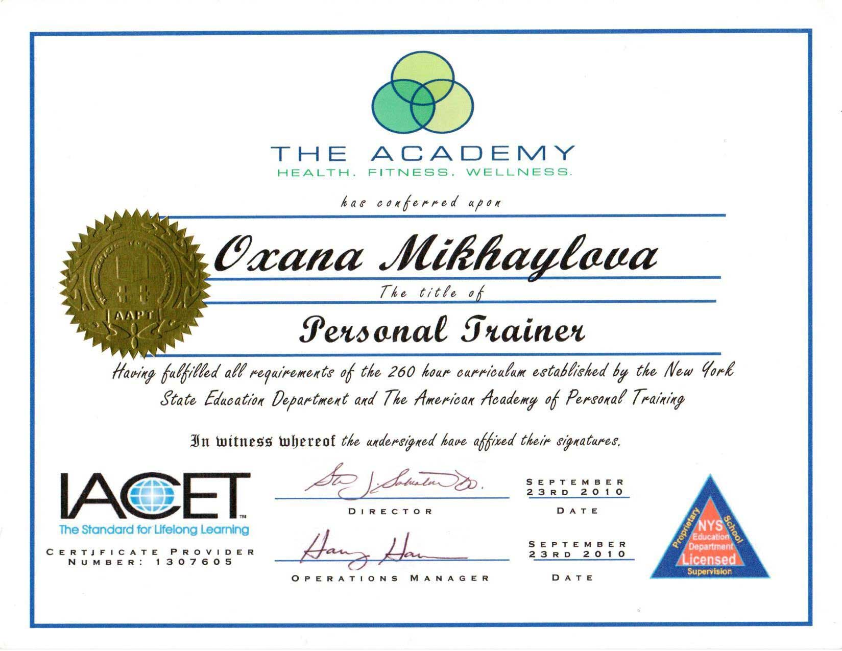 Credentials train with oxana certifications 1betcityfo Choice Image